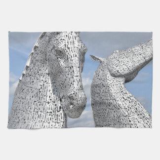 the Kelpies ,  Helix Park , Falkirk , Scotland Tea Towel