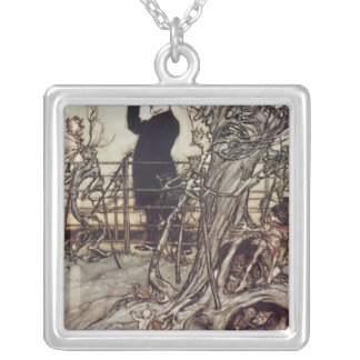 The Kensington Gardens are in London Silver Plated Necklace