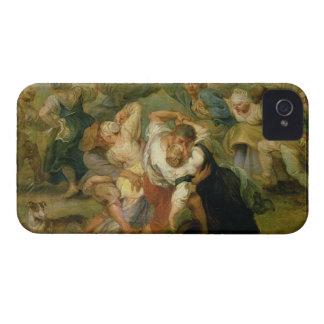 The Kermesse, detail of peasants dancing, c.1635-3 iPhone 4 Case-Mate Cases