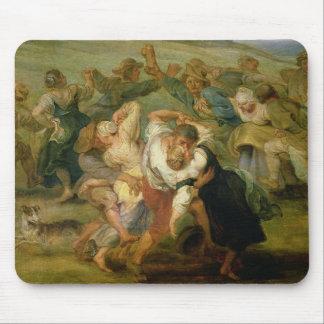 The Kermesse, detail of peasants dancing, c.1635-3 Mouse Mat
