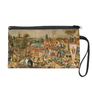 The Kermesse of the Feast of St. George Wristlet Clutch
