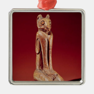 The Key Marco Cat, from Florida Silver-Colored Square Decoration