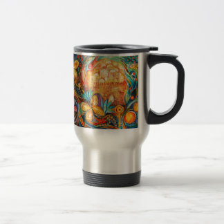 The Key of Jerusalem Stainless Steel Travel Mug