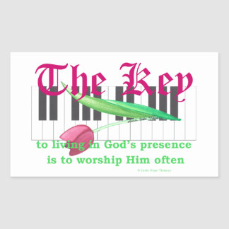 the key rectangular stickers