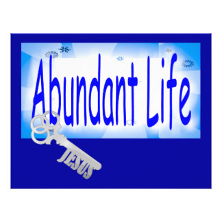 The Key to Abundant Life v2 (John 10:10) 21.5 Cm X 28 Cm Flyer
