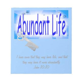 The Key to Abundant Life v2 (John 10:10) Notepad