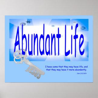 The Key to Abundant Life v2 (John 10:10) Poster