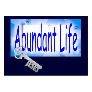 The Key to Abundant Life v2 Tract Card / Pack Of Chubby Business Cards