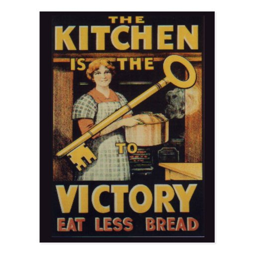 The Key to Victory; Eat less bread Post Cards