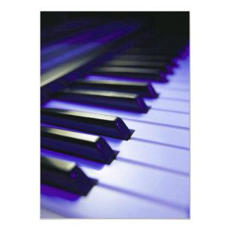 The Keyboard's Keys 11 Cm X 16 Cm Invitation Card