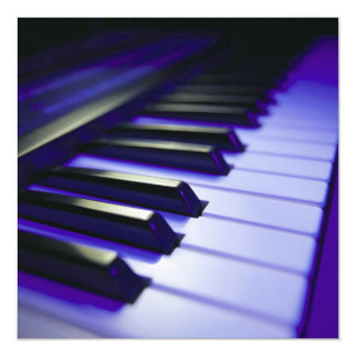 The Keyboard's Keys 13 Cm X 13 Cm Square Invitation Card