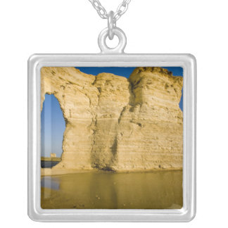 The Keyhole of the Monument Rocks aka Chalk Silver Plated Necklace