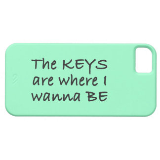 The Keys Are Where I Wanna Be iPhone 5 Cover