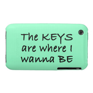The Keys Are Where I Wanna Be iPhone 3 Cases