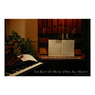 The Keys of Music Open All Hearts Poster