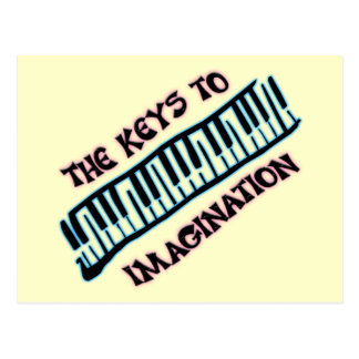 THE KEYS TO IMAGINATION POSTCARD