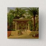 The Khabanija Fountain, Cairo, 1845 15 Cm Square Badge