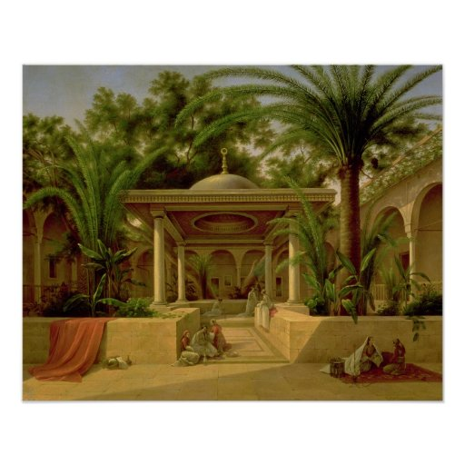 The Khabanija Fountain, Cairo, 1845 Poster