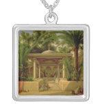 The Khabanija Fountain, Cairo, 1845 Silver Plated Necklace