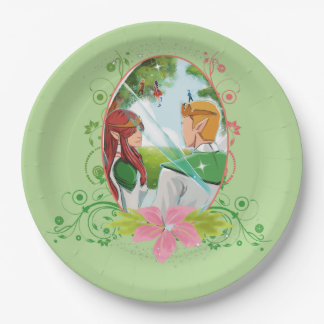 The King and Queen Custom Paper Plates 9""