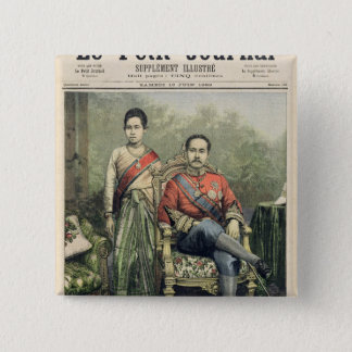 The King and Queen of Siam 15 Cm Square Badge