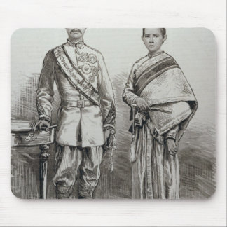 The King and Queen of Siam Mouse Mat