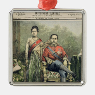 The King and Queen of Siam Silver-Colored Square Decoration