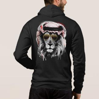 The King \ back print Full-Zip Hoodie