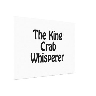 the king crab whisperer gallery wrapped canvas