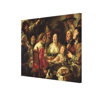 The King Drinks Stretched Canvas Print