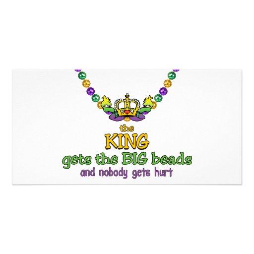 The King gets the BIG beads Custom Photo Card