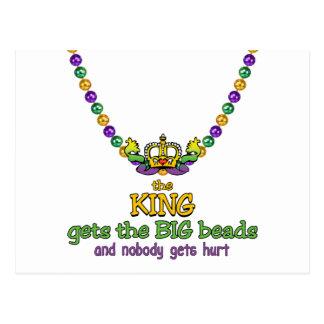 The King gets the BIG beads Postcard