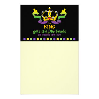 The King gets the BIG beads Personalized Stationery