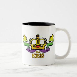 The King gets the BIG beads Two-Tone Coffee Mug