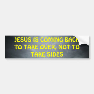 The King Is Coming Bumper Sticker