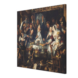 The King is Drinking Canvas Print