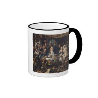 The King is Drinking Ringer Mug