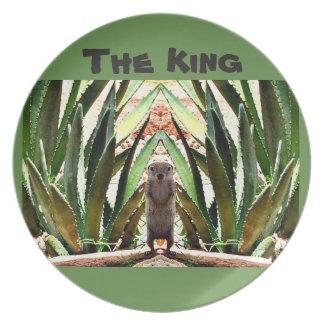 """""""The King"""" Melamine Plate"""