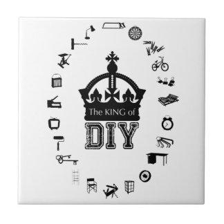 The King of DIY - Black Letters - Tile