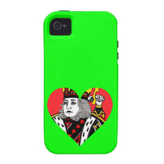 The King of Hearts Vibe iPhone 4 Covers