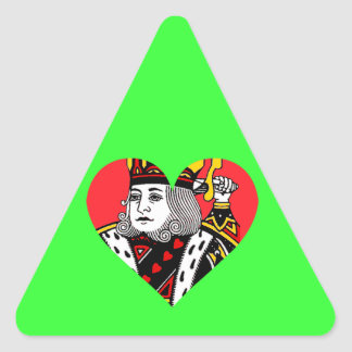 The King of Hearts Triangle Sticker