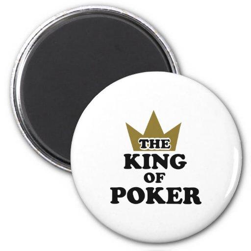 The king of poker fridge magnet