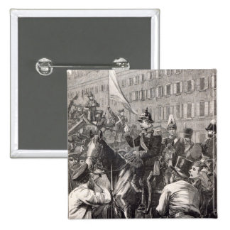 The King of Prussia addressing the Berliners 15 Cm Square Badge