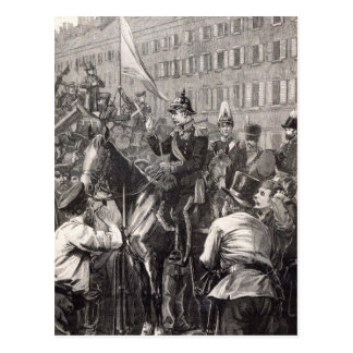 The King of Prussia addressing the Berliners Postcard