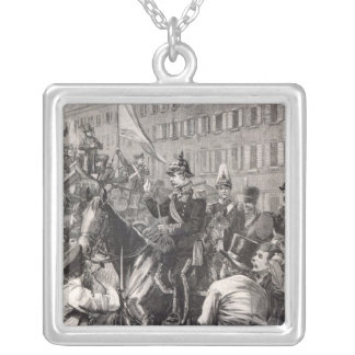 The King of Prussia addressing the Berliners Silver Plated Necklace