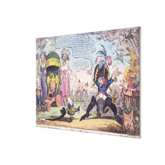 The King of Rome, 1814 - cartoon showing Napoleon Canvas Print