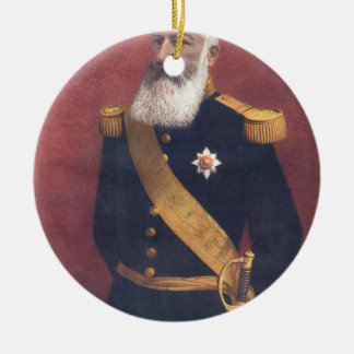 The King of the Belgians Round Ceramic Decoration