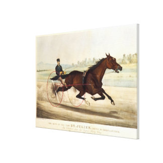 The King of the Turf, 'St. Julien' Canvas Print