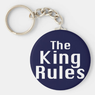The King Rules Gifts Basic Round Button Key Ring