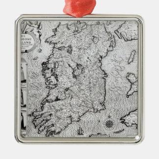 The Kingdom of Ireland Silver-Colored Square Decoration